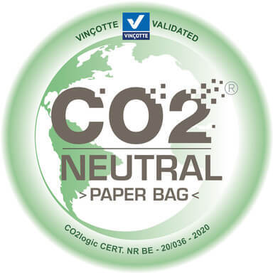 co2 neutral label paper bag