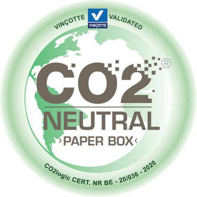 co2 neutral label paper box